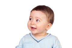 Bebê bonito com olhos agradáveis Imagens de Stock Royalty Free