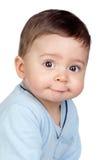 Bebê bonito com olhos agradáveis Imagem de Stock