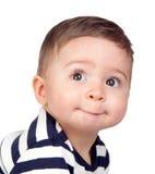 Bebê bonito com olhos agradáveis Imagens de Stock