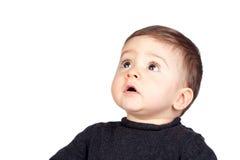 Bebê bonito com olhos agradáveis Fotos de Stock Royalty Free