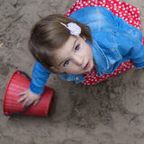 Bebê bonito com olhos marrons Fotos de Stock