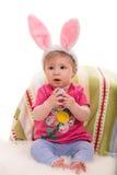 Bebê bonito com orelhas do coelho Fotos de Stock