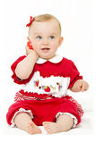 Bebê bonito com telefone Fotografia de Stock