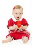 Bebê bonito com telefone fotografia de stock royalty free