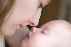 Bebê bonito de três meses velho Imagens de Stock Royalty Free