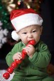 Bebê bonito do Natal imagem de stock