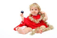 Bebê bonito do Natal Fotos de Stock Royalty Free