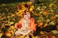 Bebê bonito do outono Fotografia de Stock Royalty Free