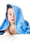Bebê bonito em uma toalha Imagem de Stock