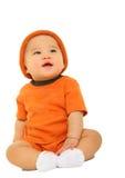 Bebê bonito que olha acima Fotografia de Stock
