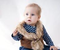 Bebê bonito surpreendido Fotografia de Stock Royalty Free