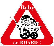 Bebê a bordo Foto de Stock