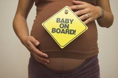 Bebê a bordo! Foto de Stock