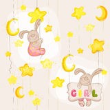 Bebê Bunny Seamless Pattern Fotos de Stock Royalty Free