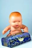 Bebê - caixa da boneca e de presente Fotos de Stock Royalty Free