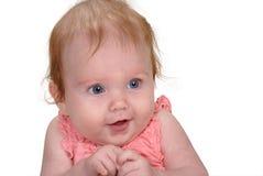 Bebê com as mãos clasped Foto de Stock Royalty Free