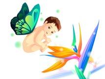 Bebê com asas Fotografia de Stock Royalty Free