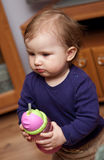 Bebê com bebida fotografia de stock royalty free