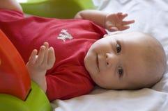 Bebê com brinquedo Fotos de Stock Royalty Free