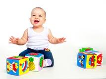 Bebê com brinquedos Imagem de Stock Royalty Free