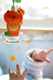 Bebê com brinquedos Foto de Stock Royalty Free