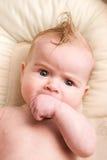 Bebê com cabelo cómico Imagem de Stock
