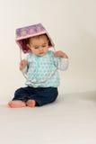 Bebê com cesta de Easter Fotografia de Stock