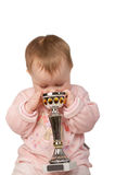 Bebê com copo de mundo Foto de Stock