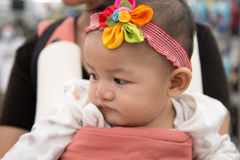 bebê com faixa Fotografia de Stock Royalty Free