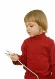 Bebê com fio Imagem de Stock Royalty Free