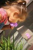 Bebê com flores imagem de stock