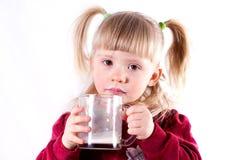 Bebê com leite Imagens de Stock
