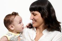 Bebê com matriz fotos de stock