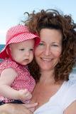 Bebê com matriz Imagem de Stock