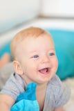Bebê com olhos azuis Imagens de Stock Royalty Free