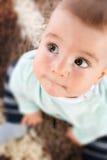 Bebê com olhos grandes Imagem de Stock Royalty Free