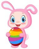 Bebê com ovo de easter Fotografia de Stock