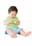 Bebê com Pacifier fotografia de stock