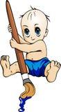 Bebê com pintura Imagem de Stock