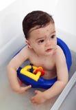 Bebê com pox de galinha Foto de Stock