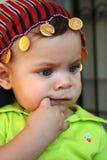 bebê com seu lenço Imagem de Stock Royalty Free