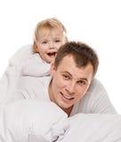 Bebê com seu paizinho Fotografia de Stock Royalty Free