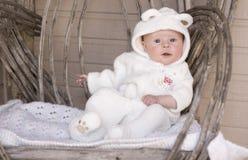 Bebê como um urso Imagens de Stock