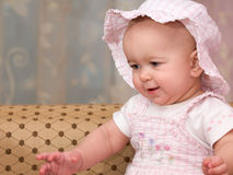Bebê cor-de-rosa - boneca Imagens de Stock Royalty Free