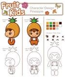 Bebê da fruta e verdura ------ Abacaxi ilustração royalty free