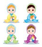 Bebê da ilustração Brinquedos do bebê do caráter ilustração do vetor
