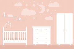 Bebê da mobília ilustração stock
