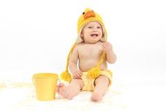 Bebê da Páscoa em Duck Costume Fotografia de Stock