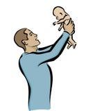 Bebê da terra arrendada do pai Imagens de Stock Royalty Free