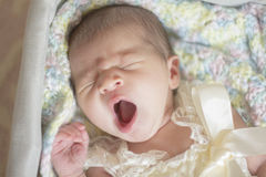 Bebê de bocejo Foto de Stock